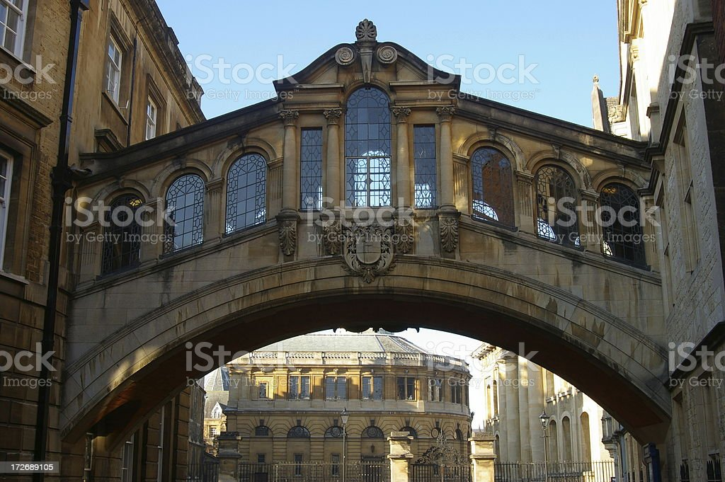 "Oxford ""The Bridge of Sighs""  New College Lane royalty-free stock photo"