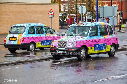 istock Oxford Science park taxis, UK 1072585168