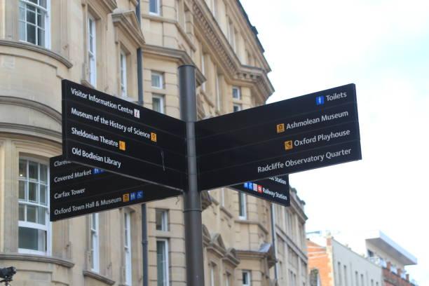 Oxford - Zeichen für die Torists Reiseziele – Foto