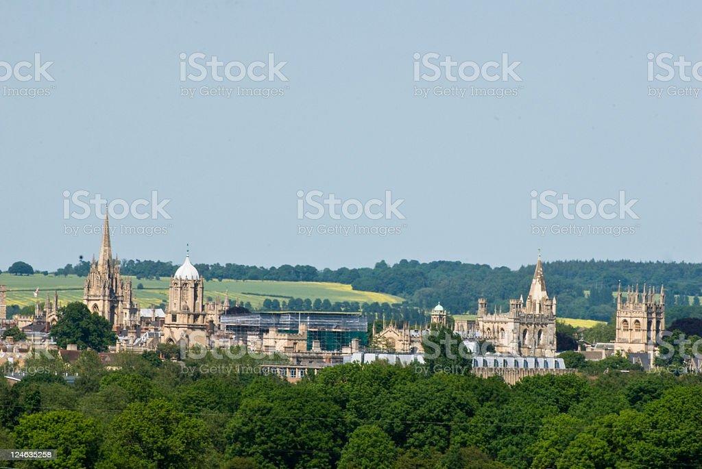 Oxford Spires in Oxfordshire stock photo