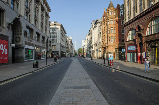 Oxford Street during COVID 19 Lockdown stock photo