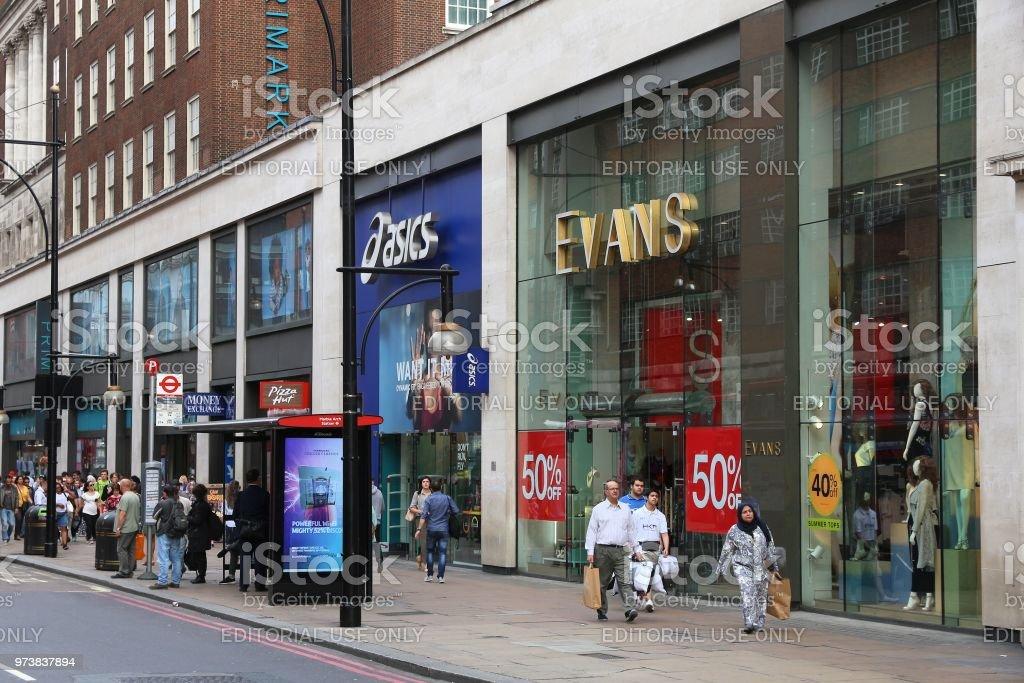 Oxford Street, London stock photo