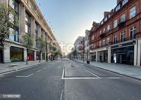 Empty Oxford Street During lockdown