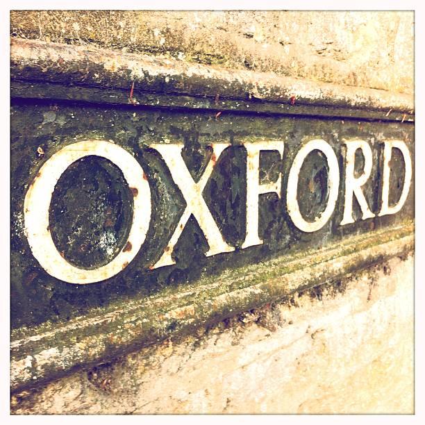 Oxford street-Schild – Foto
