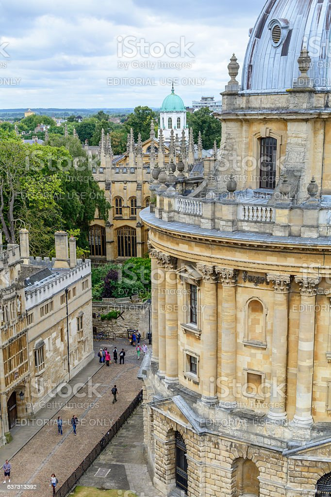 Oxford, United Kingdom - August 21, Radcliffe Camera on August stock photo