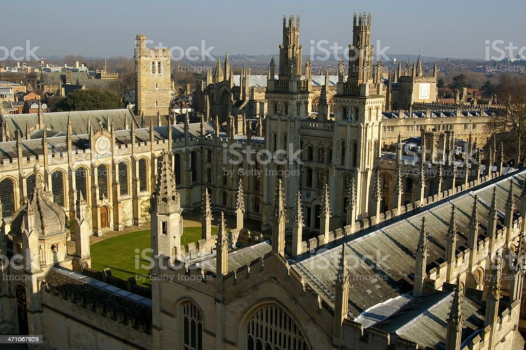 Oxford University - All Souls College stock photo