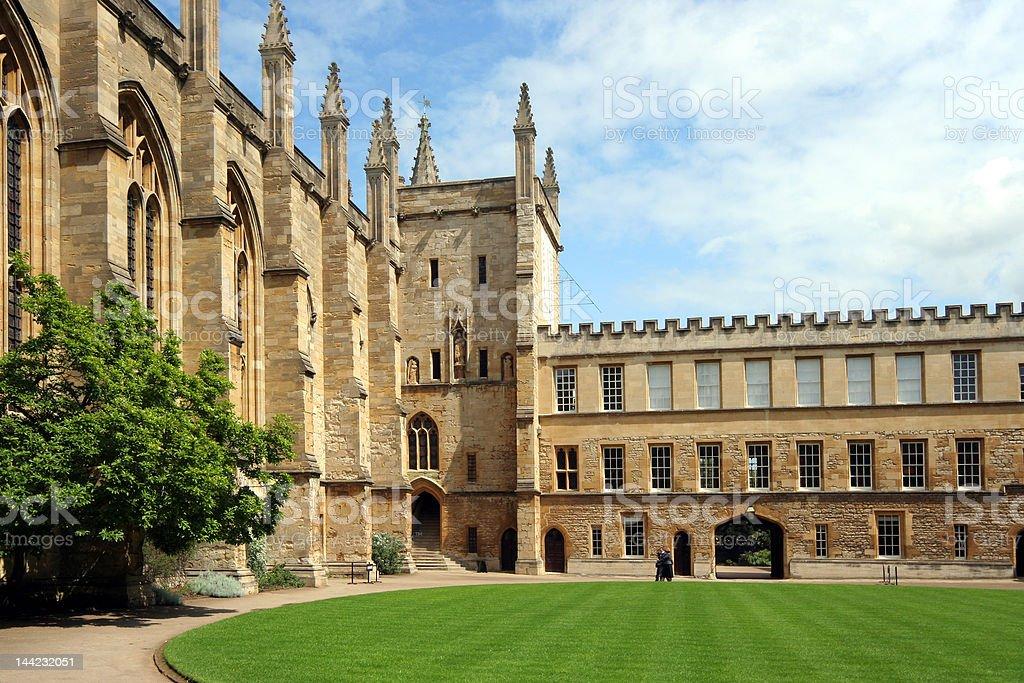 Oxford University College Courtyard stock photo
