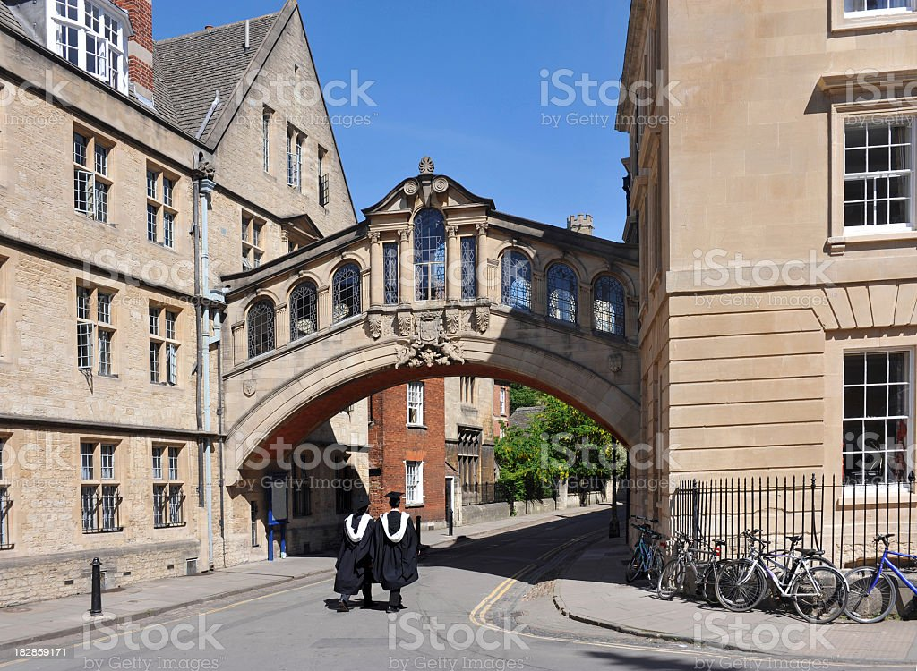 Oxford University Graduates stock photo
