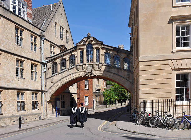 oxford university graduates - cambridge university stock photos and pictures
