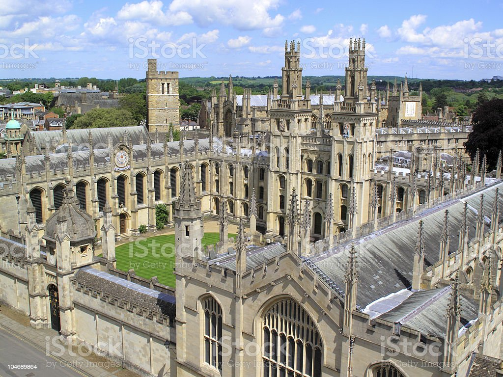 Oxford University's  All Soul's College stock photo