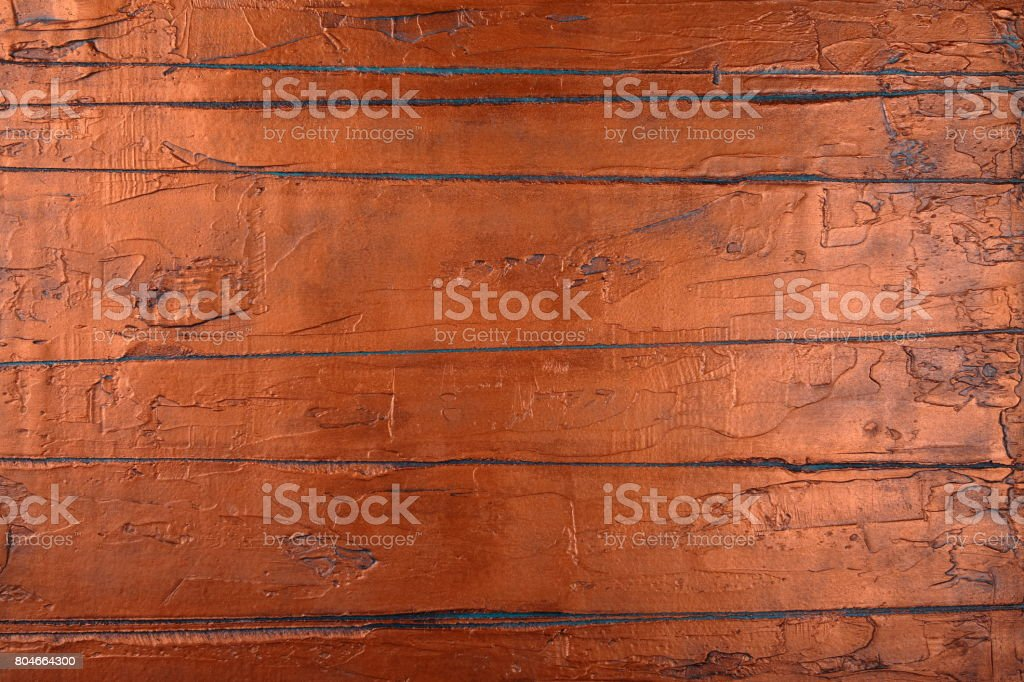 Oxidized Copper Sheet. Copper background. stock photo