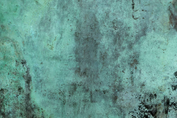 oxidized green copper background - copper stock photos and pictures