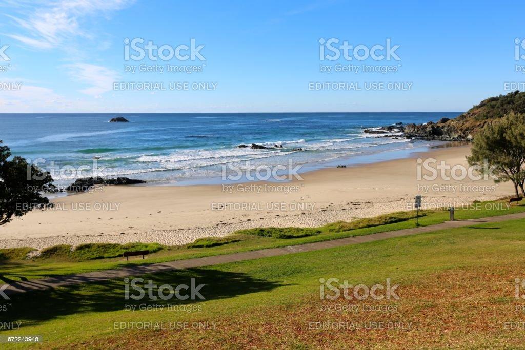 Oxley Beach, Port Macquarie NSW stock photo