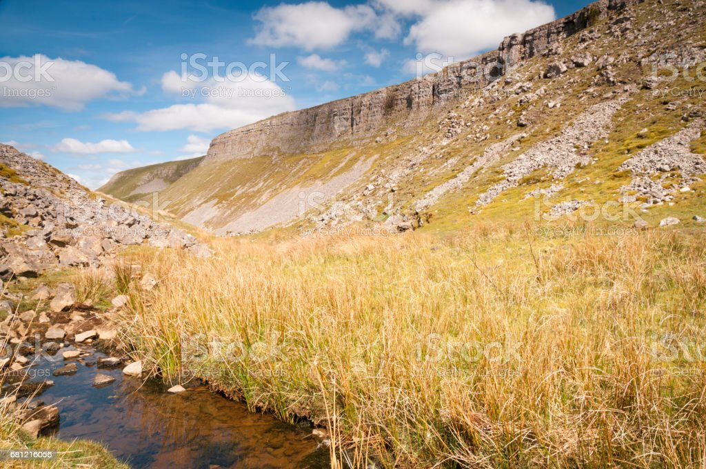 Oxnop Beck and Oxnop Scar stock photo