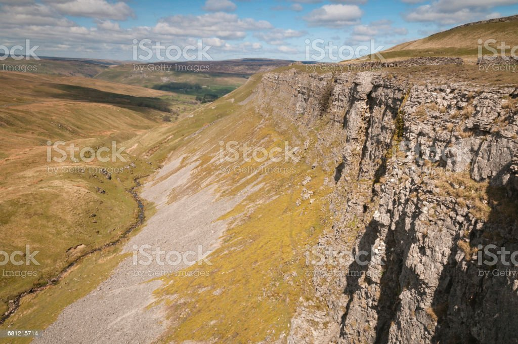 Oxnop Scar and Scree stock photo