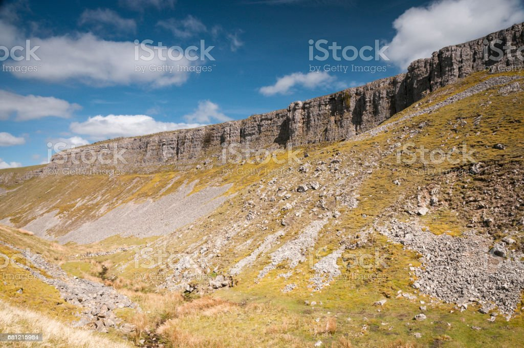 Oxnop Scar,Scree and Beck stock photo