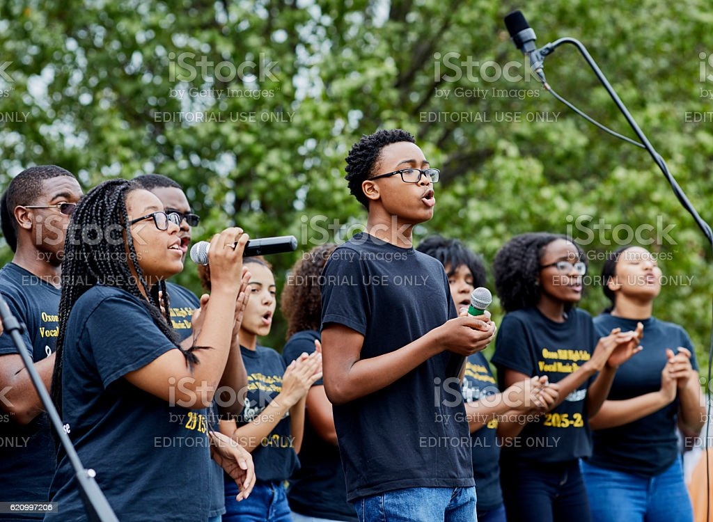 Oxon Hill High School Vocal Music Department Performance stock photo