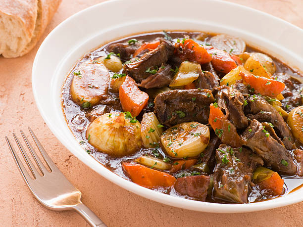 Oxtail and Potato Stew  beef stew stock pictures, royalty-free photos & images