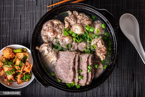 Oxtail soup with beef