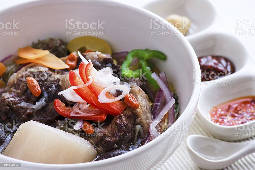 oxtail soup royalty-free stock photo