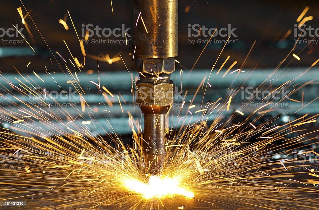 CNC Oxy-Fuel Cutting royalty-free stock photo