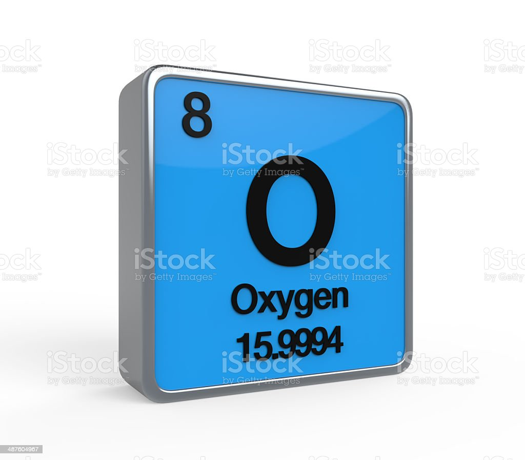 Oxygen Element Periodic Table stock photo