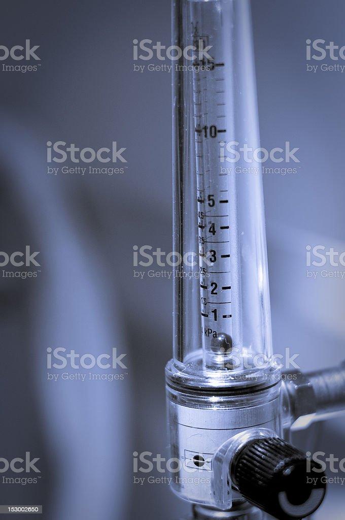 oxygen flowmeter stock photo
