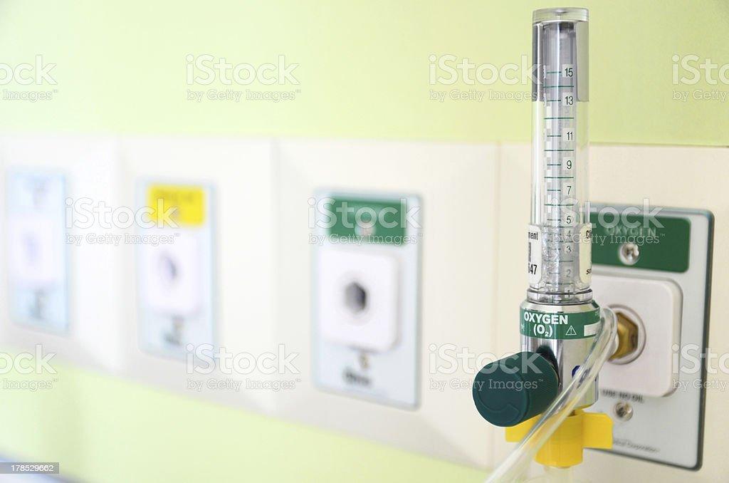 Oxygen gauge stock photo