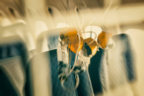 Sauerstoff-Maske im Flugzeug – Foto