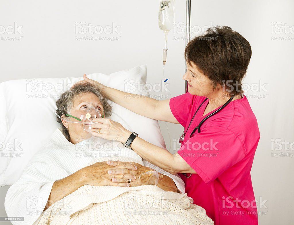 Oxygen Mask in the Hospital stock photo