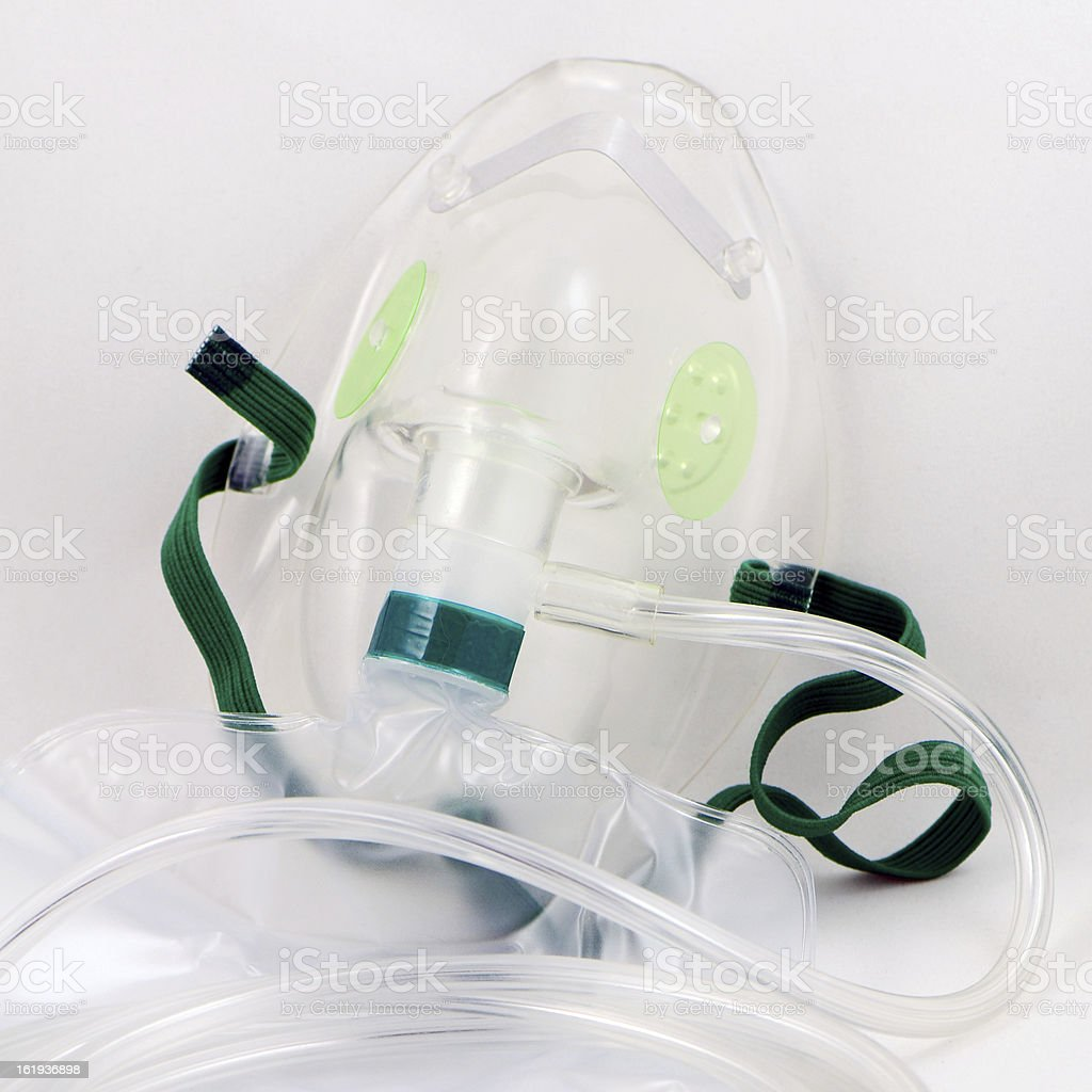 Oxygen Mask with Bag. stock photo