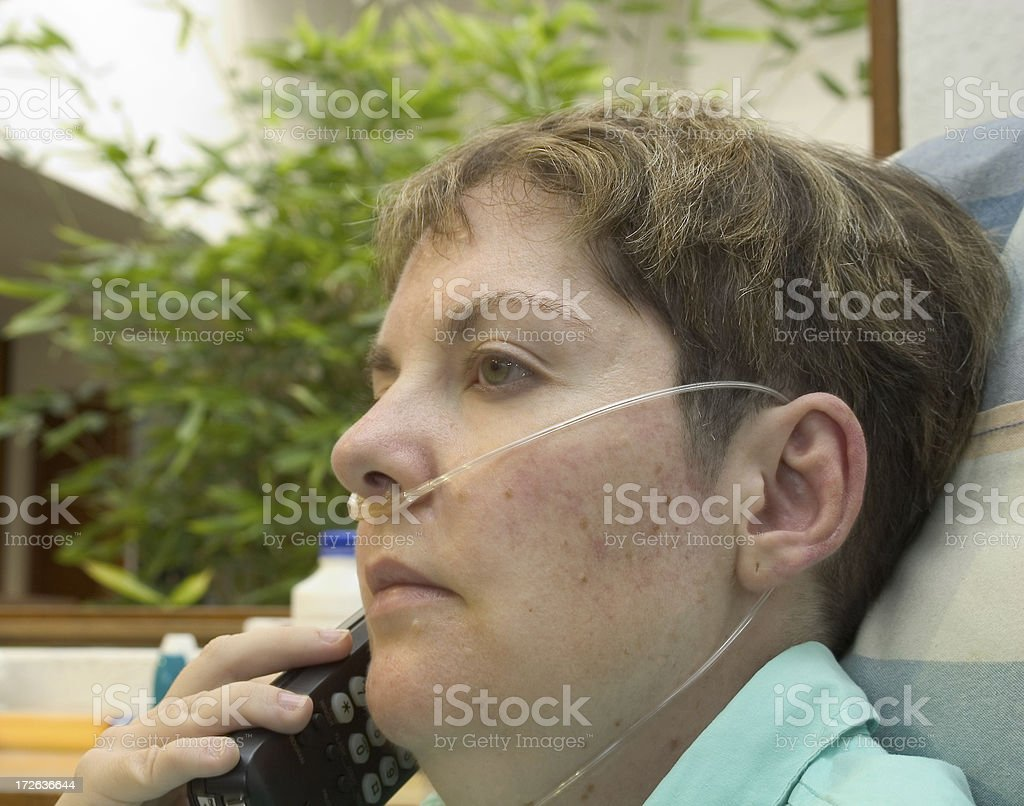 oxygen user royalty-free stock photo