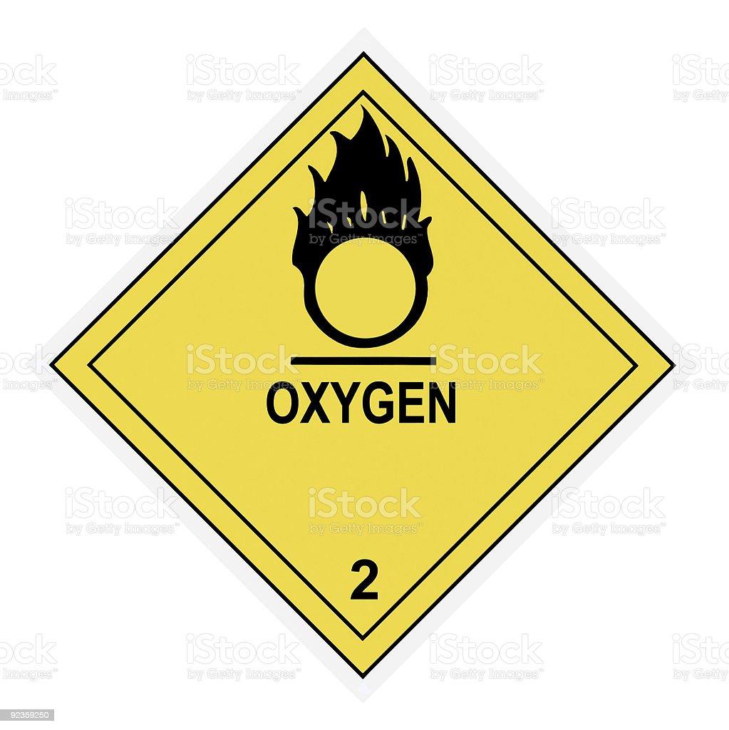 Oxygen Warning Label royalty-free stock photo