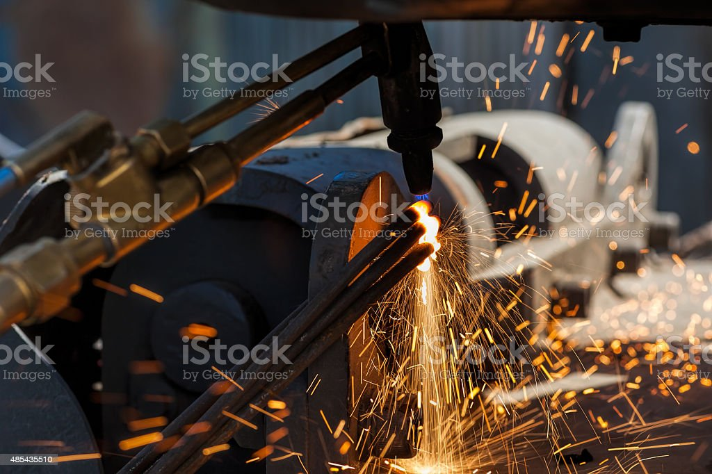 Oxygen-Acetylene Welding - Cutting stock photo
