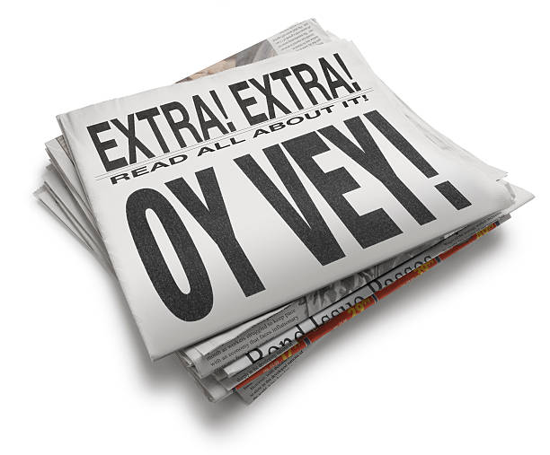 Oy Vey! A newspaper with headline