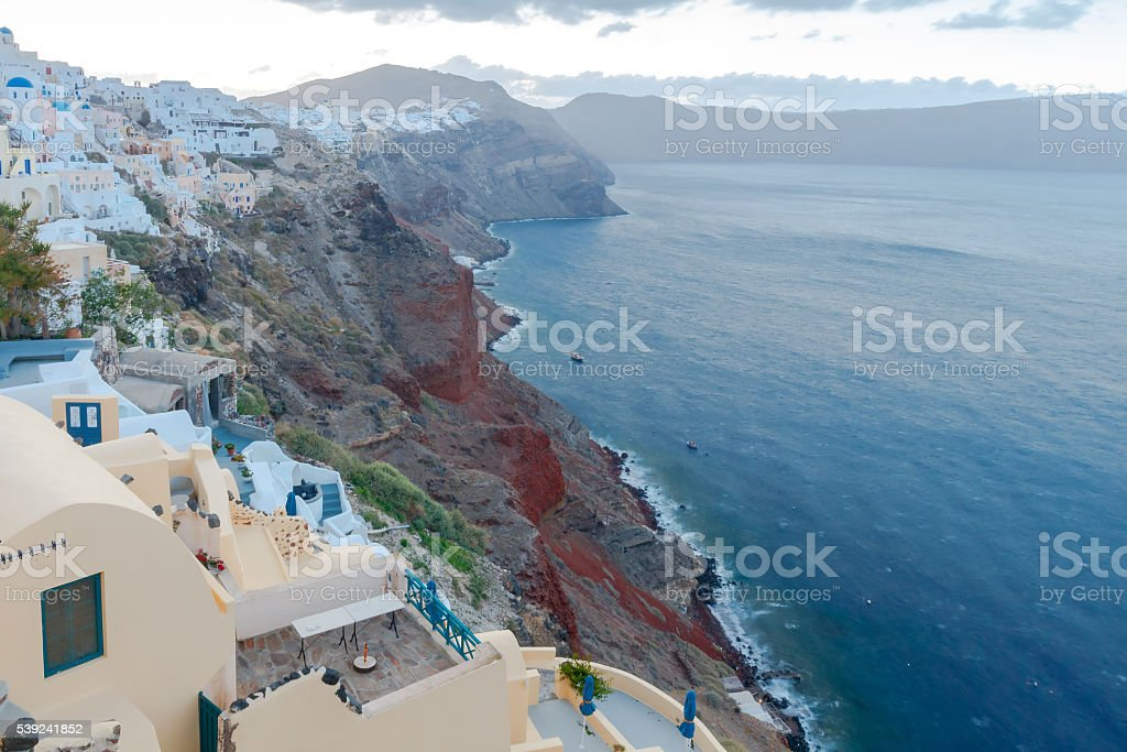 Oya. The famous village with white houses. royalty-free stock photo