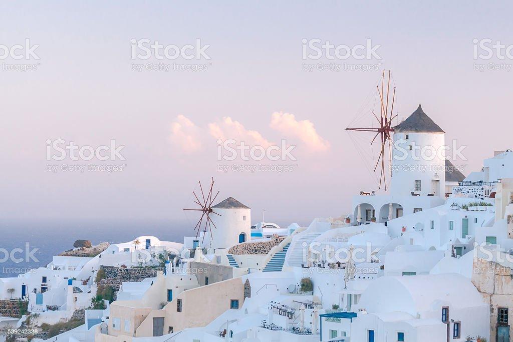 Oya. White windmills. royalty-free stock photo