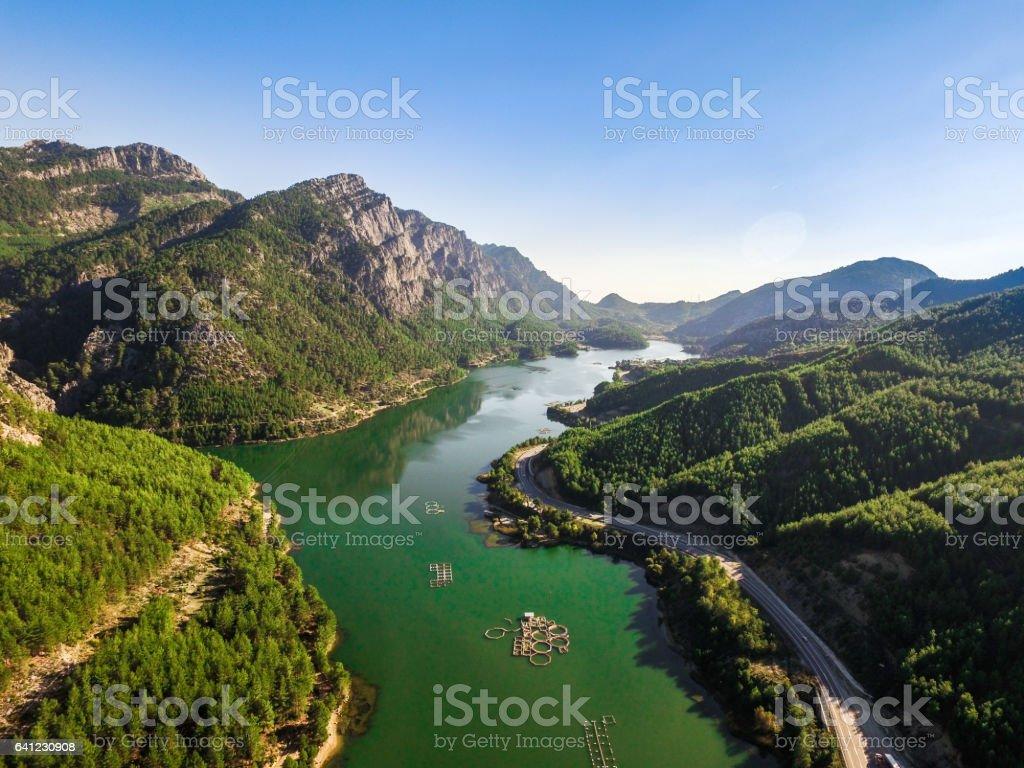 Oymapinar Dam in Antalya stock photo