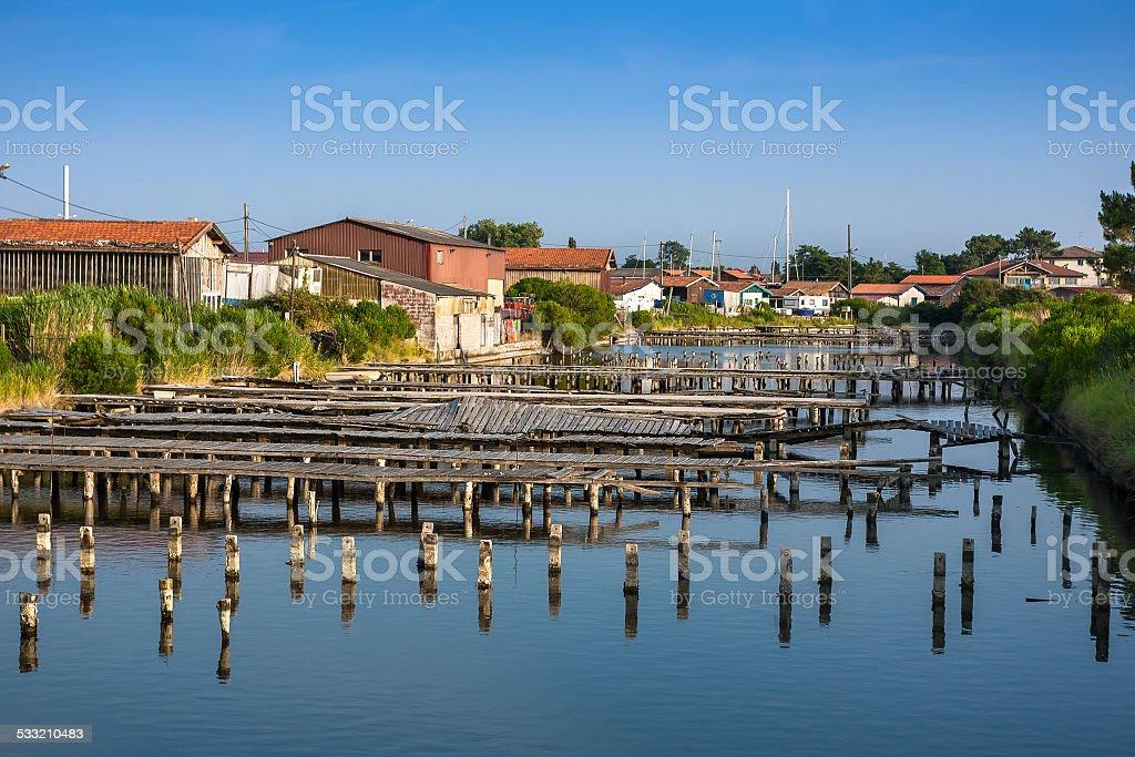 Oyster agriculture harbour à proximité de Arcachon, France - Photo