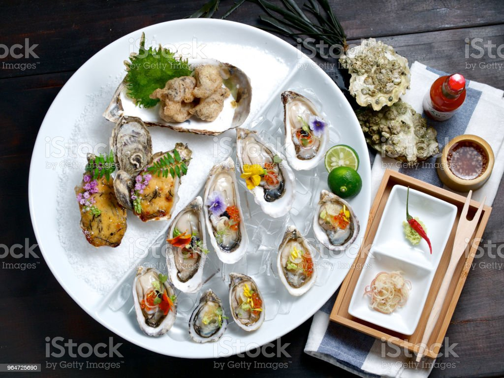oyster plate royalty-free stock photo