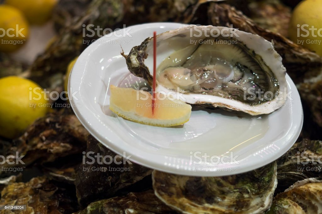 Oyster ready to eat stock photo