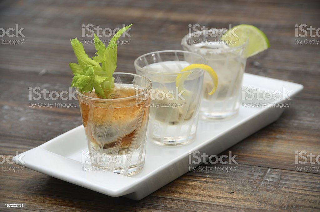 Oyster Shooters royalty-free stock photo