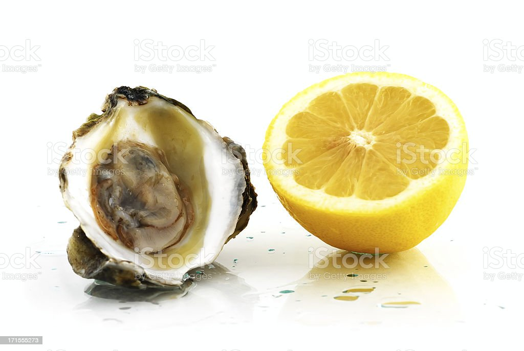 oyster_and_lemon royalty-free stock photo