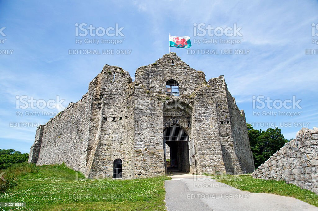 Oystermouth Castle stock photo
