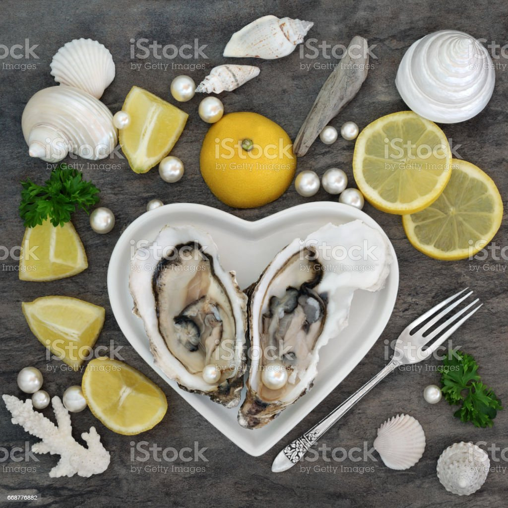 Oysters, Pearls and Shells stock photo