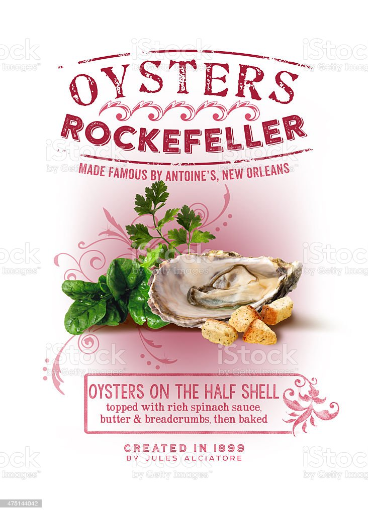 Oysters Rockefeller NOLA Collection stock photo