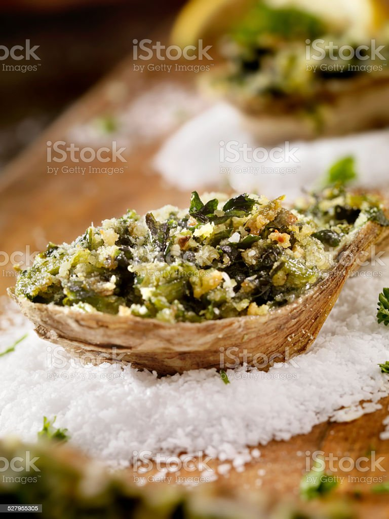 Oysters Rockefeller royalty-free stock photo