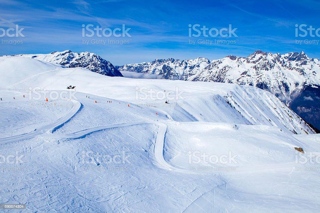 Oz en Oisans ski slopes foto