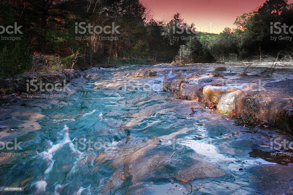 Ozark Mountains Landscape Abstract stock photo