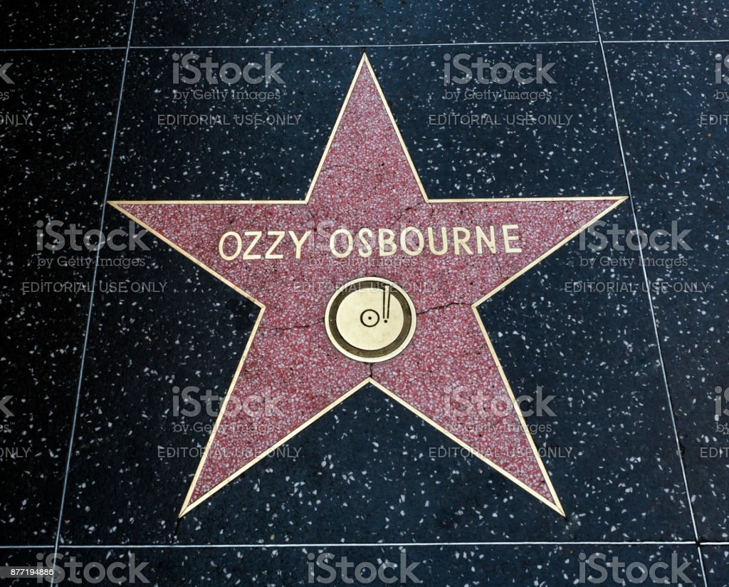 Ozzy Osbourne's Star, Hollywood Walk of Fame - August 11th, 2017 - Hollywood Boulevard, Los Angeles, California, CA, USA stock photo